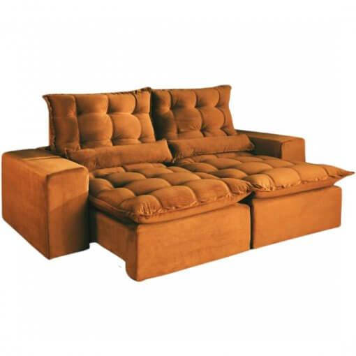 Sofa 2 Lugares Retratil e Reclinavel Porto Belo 180cm Cobre