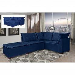 Sofa de Canto Saturno Aifos Estofados Azul
