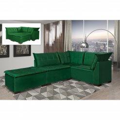 Sofa de Canto Saturno Aifos Estofados Verde