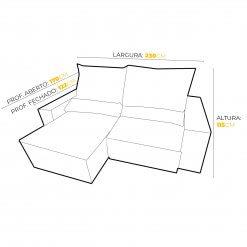 Sofa 4 Lugares Top Luxo Retratil e Reclinavel com Tecido Veludo Medidas 230cm